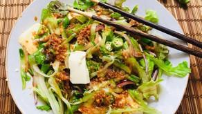 Japanese Tofu Okra Salad