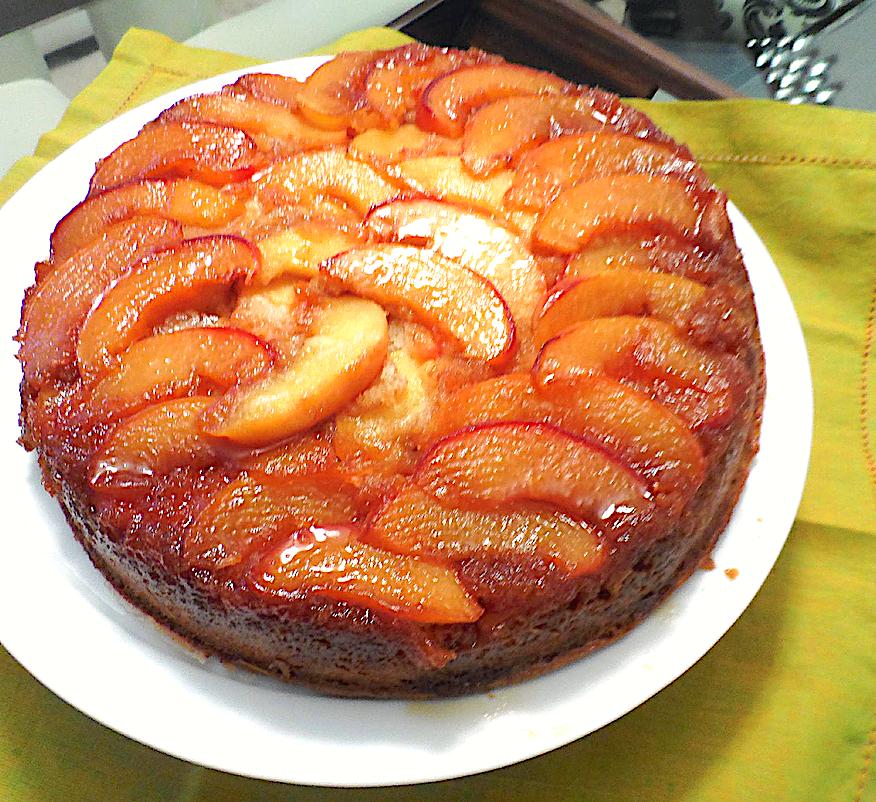 Chocolate-Hazelnut Peach Tart