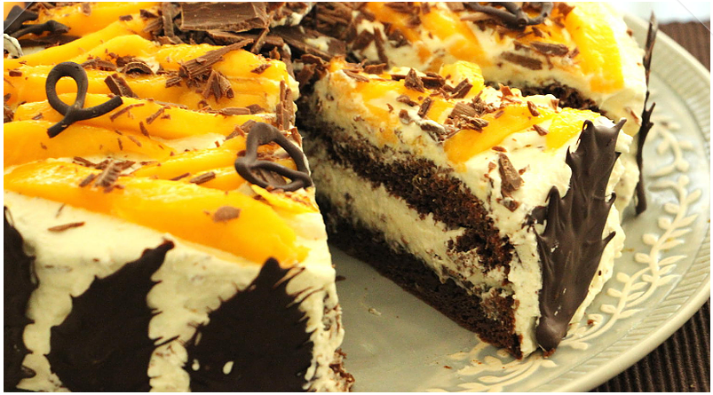 Mango Chocolate Cream Cake