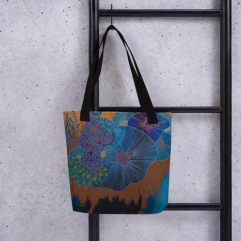Neon Coral Tote Bag