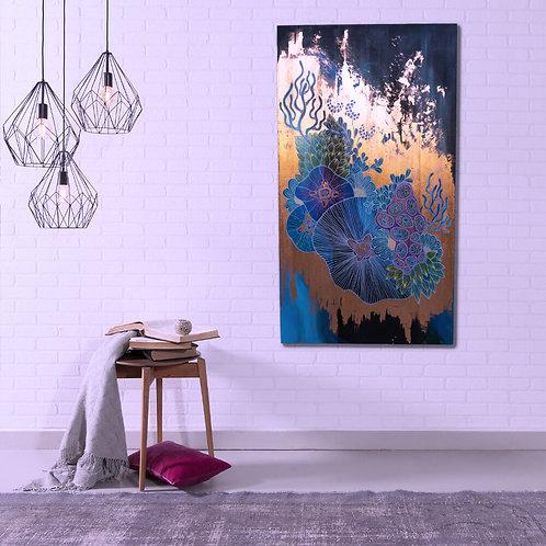 Copper Coral Wall Art