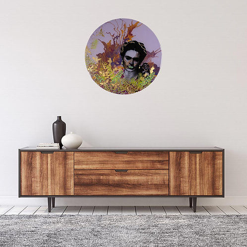 Wall Decor - Frida in resin with monkey