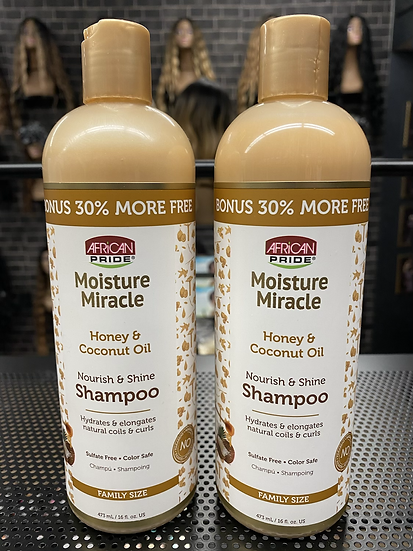 African Pride| Moisture Miracle Honey & Coco Shampoo16oz