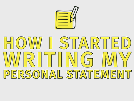 How I Started Writing My Personal Statement