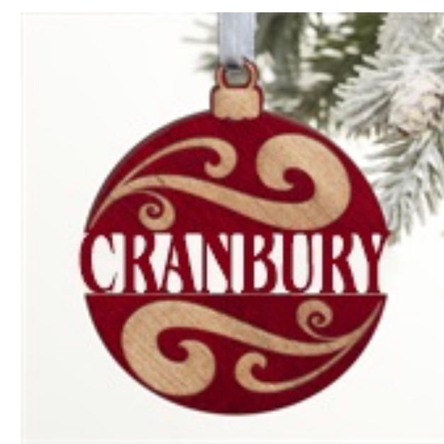 Wooden Cranbury Ornament - $12.00