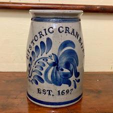 "Cranbury 8"" Stoneware Crock - $55"