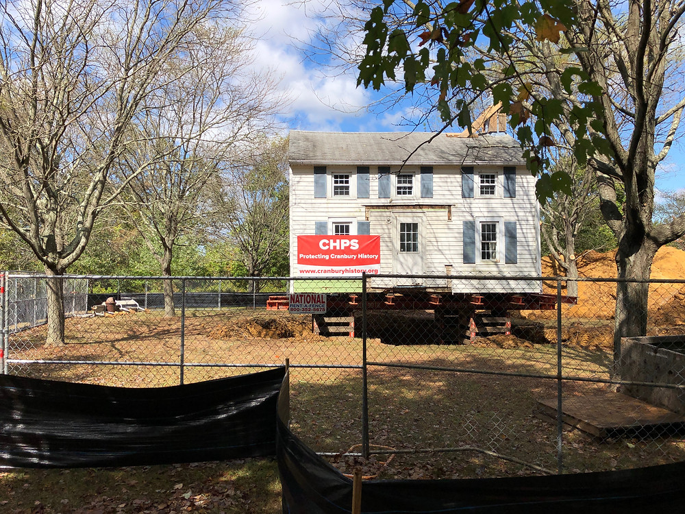 The house is not in Millstone Park, with more work to be done to restore it.