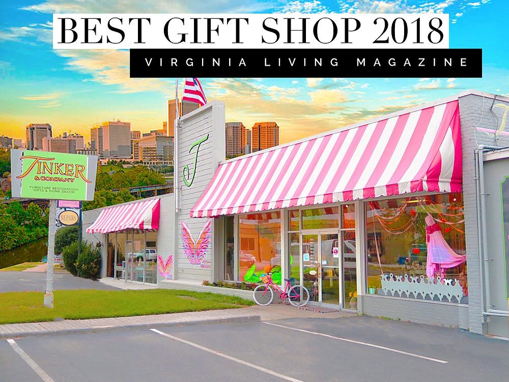 Voted best gift shop in Virginia. #bestofvirginia