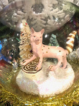 Pastel wolf and fox ornaments
