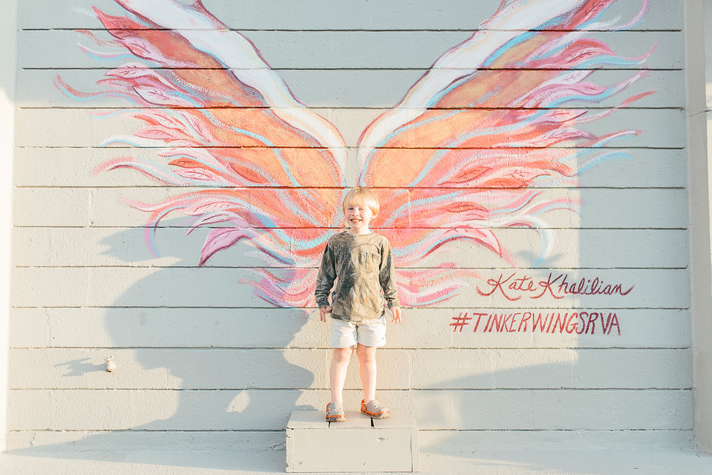 Angel Wing Murals in Richmond