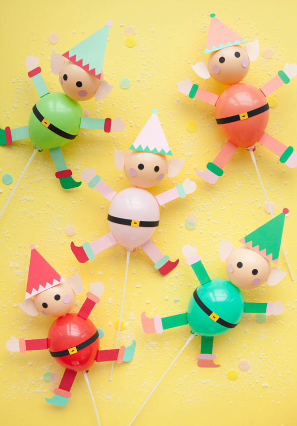 Elf Balloon Stick Tutorial by Oh Happy Day