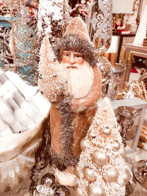 Elegant santas in a winter wonderland