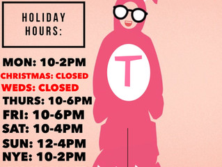 Holiday Hours and Sale Information