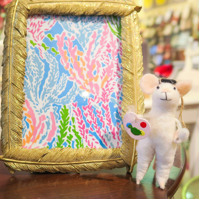 Artist mice ornaments and cute frame