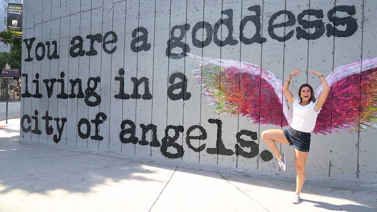 Tinker's meets Colette Miller's ngel wngs in Los Angeles