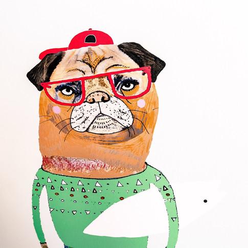 Cute Pug Life Dog Paintings