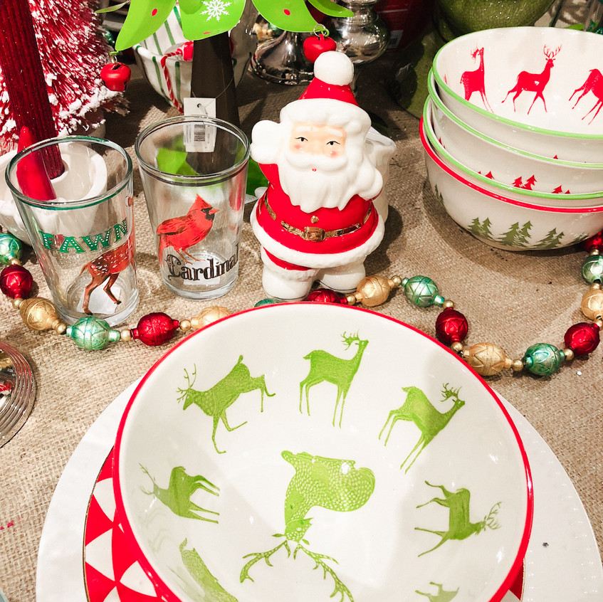 Dinnerware and holiday kitchen stuff