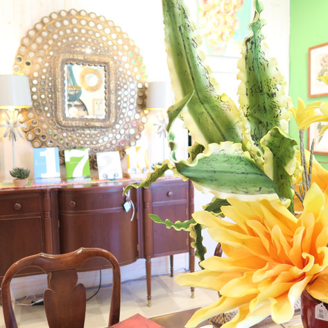 Gorgeous mirrors, furniture, and Florals