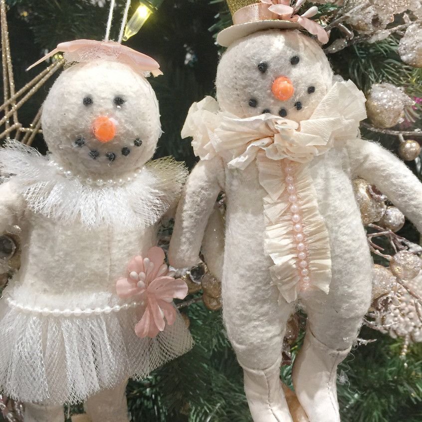 Mr and Mrs. Snowman ornaments