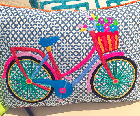 Cute Bicycle Pillows
