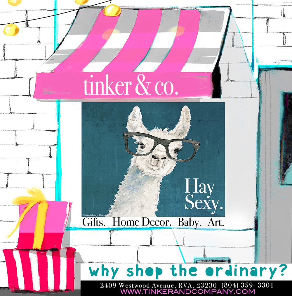 Ad designed by our son, Joshua Coleman. Llama print by Kathryn White