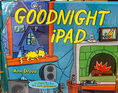 Goodnight Ipad book by Ann Droyd make a cool gift for new parents with a sense of humor