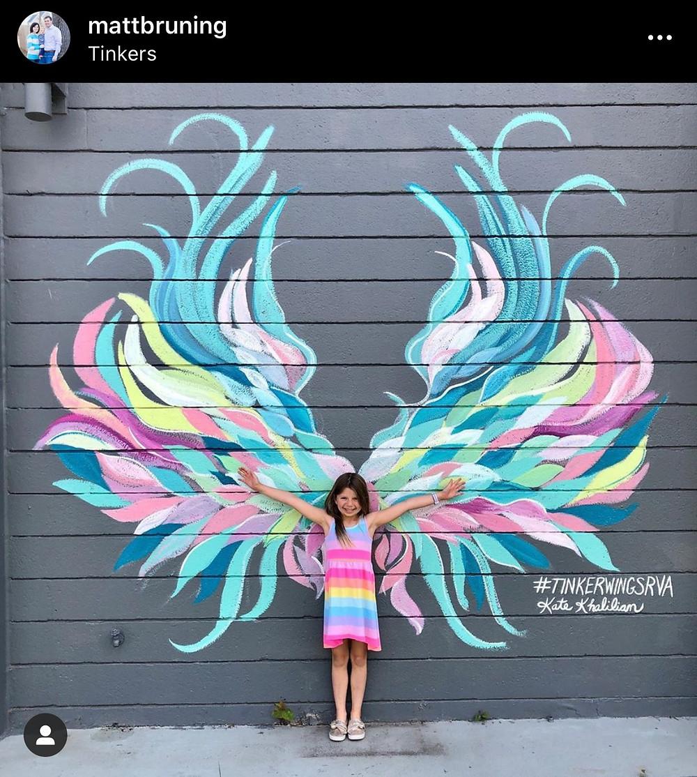 Angel wing murals