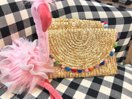 Pink flamingos and purses