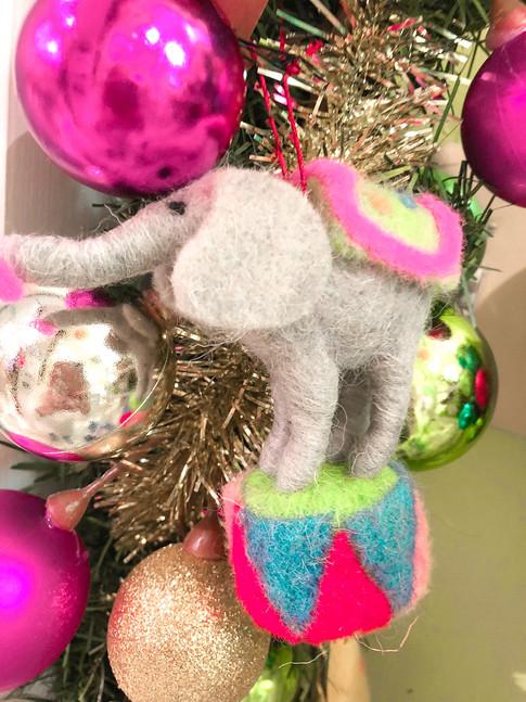Baby elephant ornaments