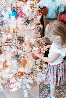 A little cute picks out her favorite ornament from Tinker's. Special thanks to Chelsea Schmidt Photography.