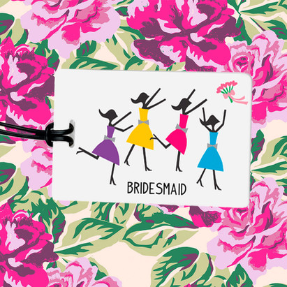 Bridesmaid Luggage Tags