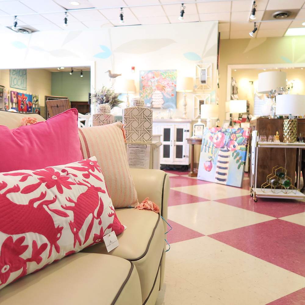Pink pillows, floral prints, patterned floors and more