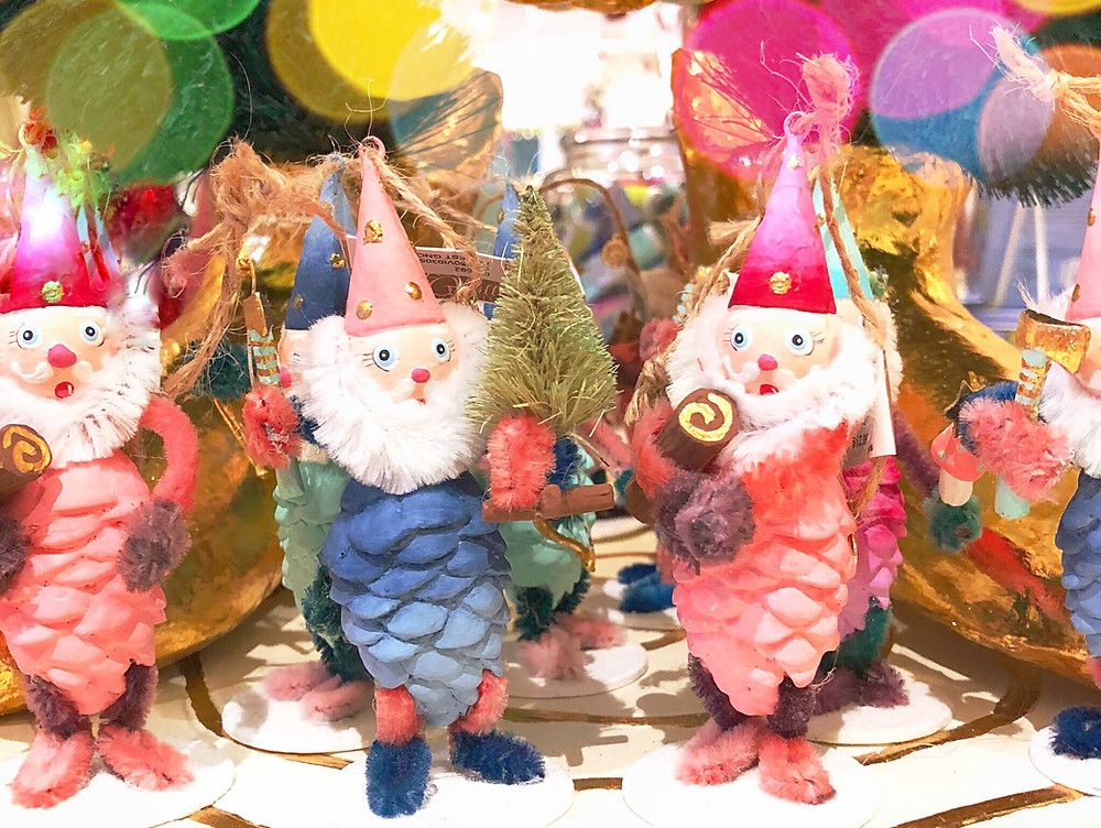 Pinecone gnomes from Glitterville