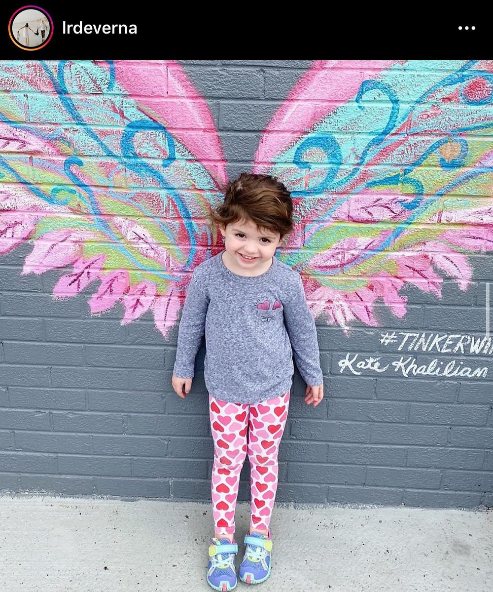 Tinker's angel wing murals!