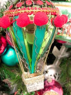 Hot air balloon ornaments