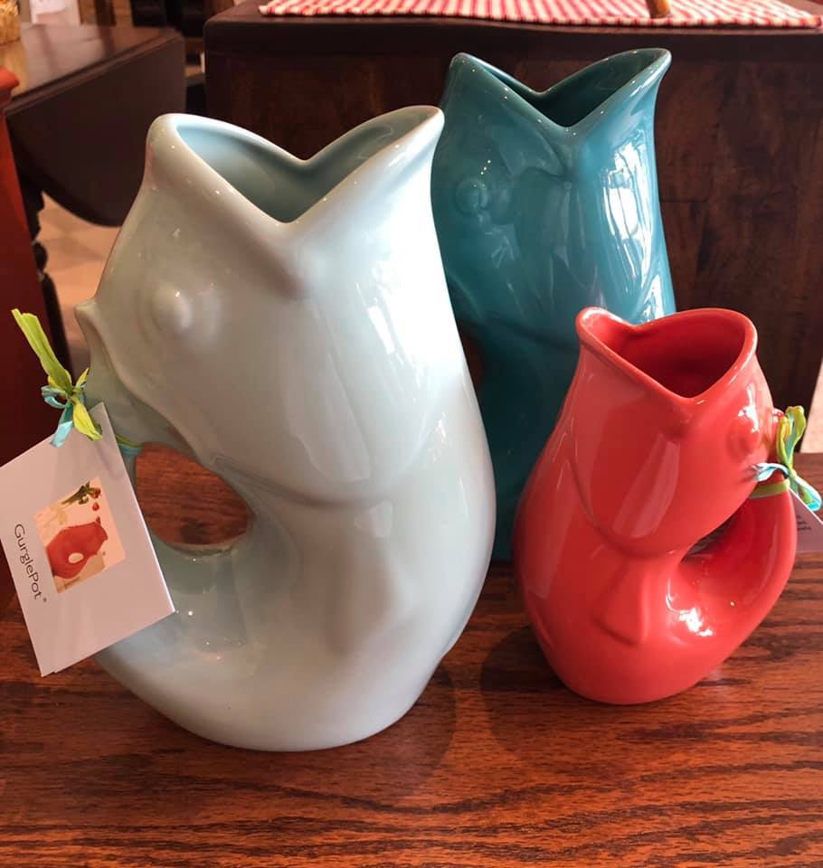 Gurgle pot vases
