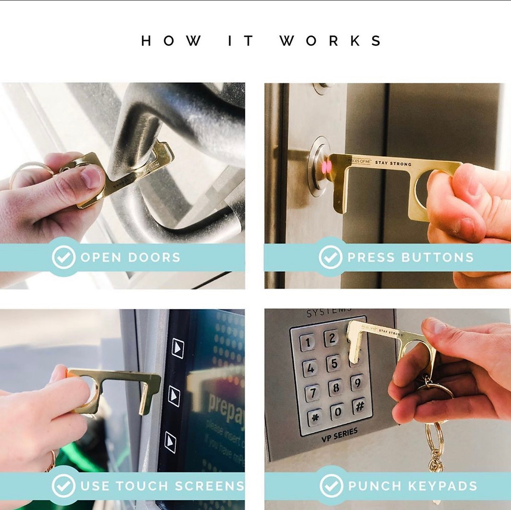 No-touch key ring instructions
