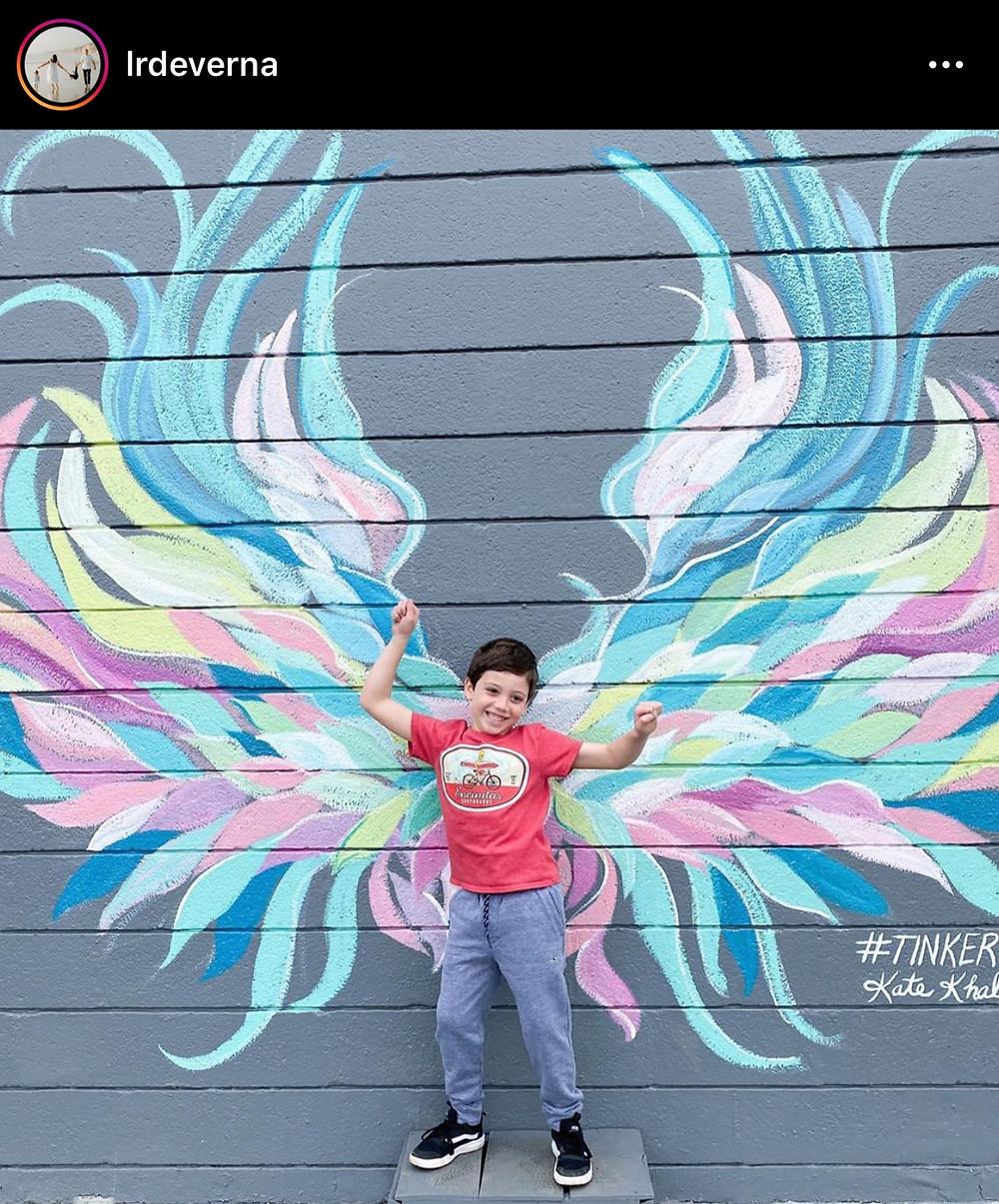 Tinker's Angel wing mural