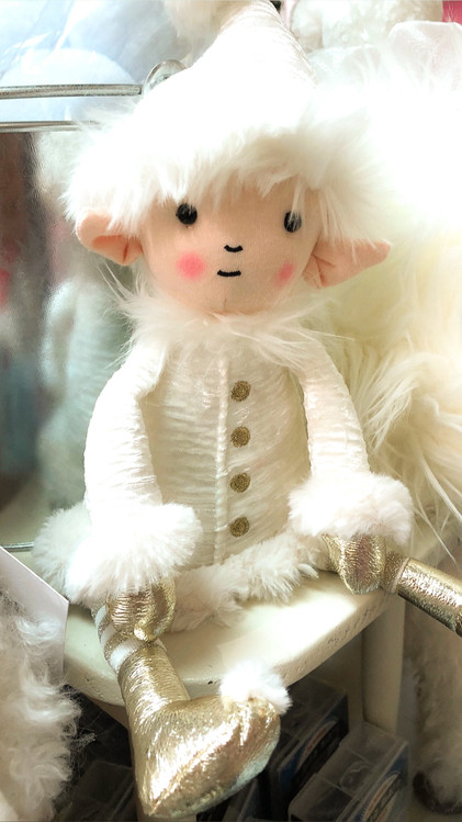 adorable white christmas elf ornaments