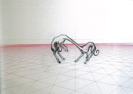 CHARLES AVERY - Untitled (two dogs on pe