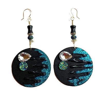 Turquoise N Black 360 Earrings