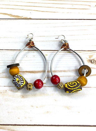 Stylish BrownTribal Wired Earrings