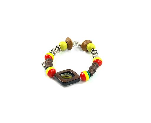 Snazzy Jazzy center Tri colored bracelet