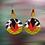 Thumbnail: Beautiful Gold Beaded Fashion Earrings