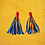 Thumbnail: Statement Denim Red Wire Fashion Earrings