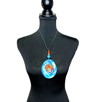 Coral Blue Wired Sands Necklace