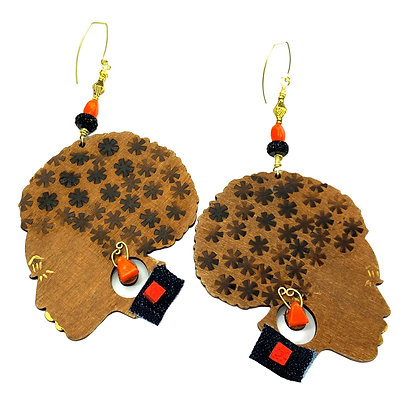 Mrs. Confident Women Handmade Wooden Earrings