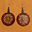 Thumbnail: Cranberry Leather Floral Style Fashion Dangle Earrings