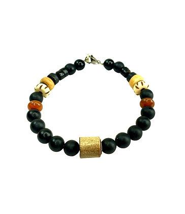 Line up boldly  black boho bracelet