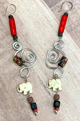 Happy Go Lucky Elephant Earrings